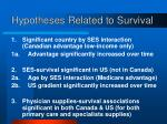 hypotheses related to survival