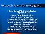research team co investigators