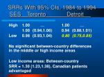 srrs with 95 cis 1984 to 1994 ses toronto detroit