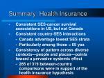 summary health insurance
