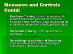 measures and controls contd2