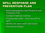 spill response and prevention plan