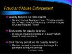 fraud and abuse enforcement