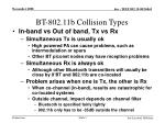 bt 802 11b collision types