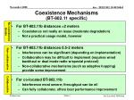 coexistence mechanisms bt 802 11 specific