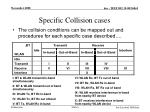 specific collision cases