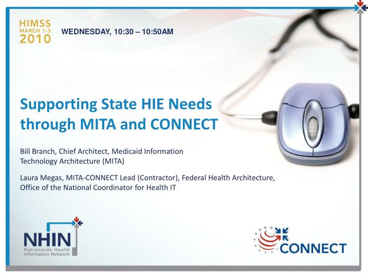 supporting state hie needs through mita and connect n.