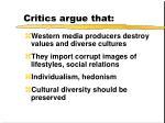 critics argue that1
