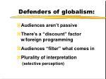 defenders of globalism