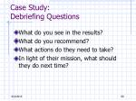 case study debriefing questions