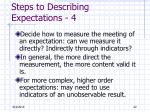 steps to describing expectations 4