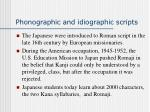 phonographic and idiographic scripts