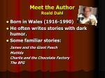 meet the author roald dahl