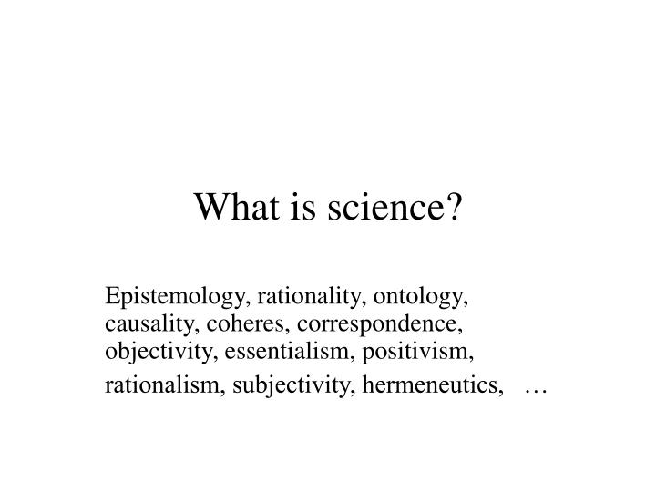 what is science n.