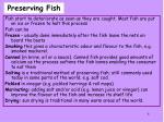 preserving fish