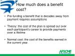 how much does a benefit cost