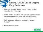 spiking drop double dipping early retirement