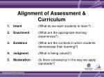 alignment of assessment curriculum