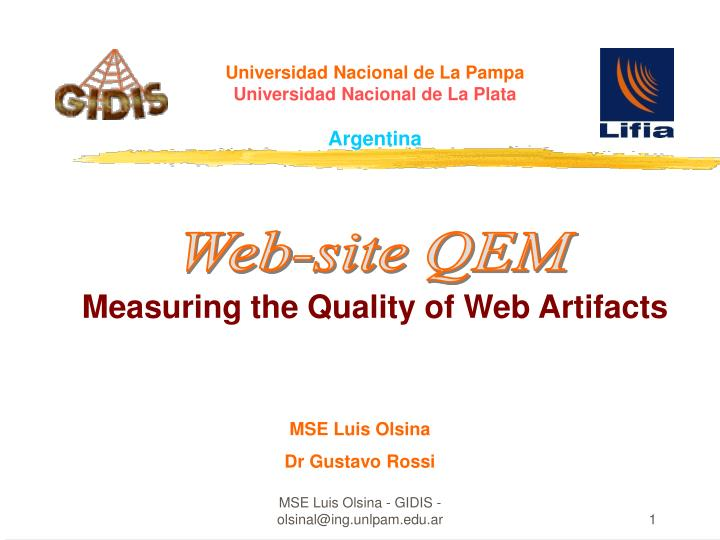 measuring the quality of web artifacts n.