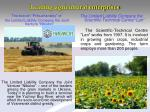 leading agricultural enterprises