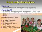 social and cultural sphere
