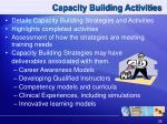 capacity building activities