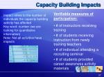 capacity building impacts