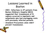 lessons learned in boston