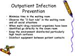 outpatient infection prevention