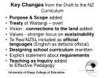 key changes from the draft to the nz curriculum