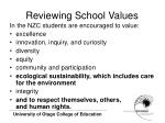 reviewing school values