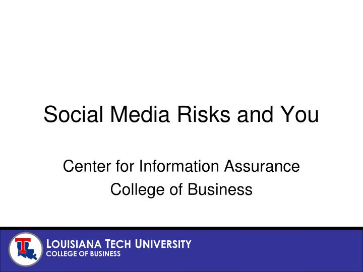social media risks and you n.