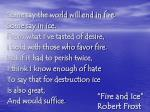 fire and ice robert frost