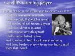 gandhi s morning prayer