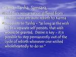 karma tanha samsara
