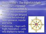 the remedy the eightfold path