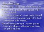 the silent sage