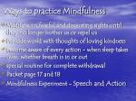 ways to practice mindfulness