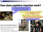 how does expletive insertion work