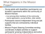 what happens in the mission project