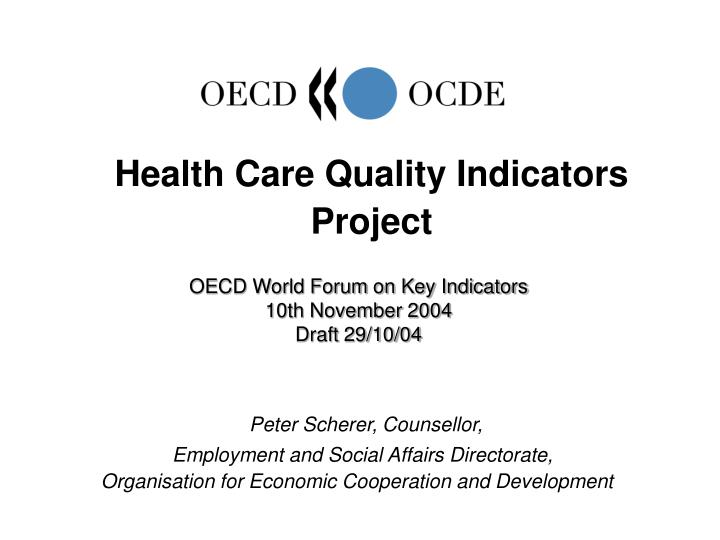 health care quality indicators project n.