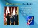modern symbols of authority