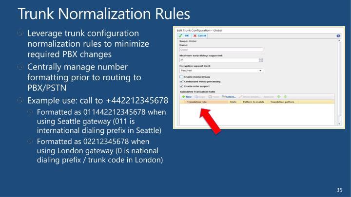 Trunk Normalization Rules