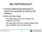 ban self reference