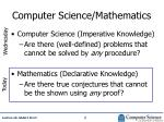 computer science mathematics