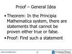 proof general idea