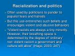 racialization and politics