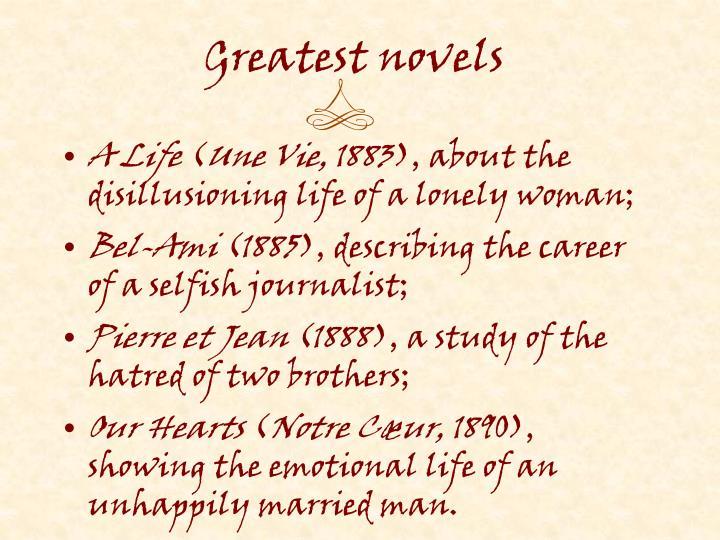 Greatest novels