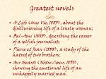 greatest novels