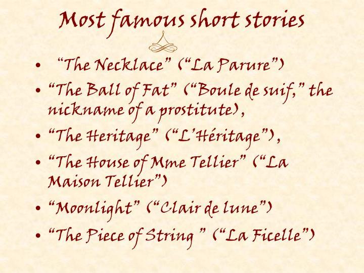 Most famous short stories